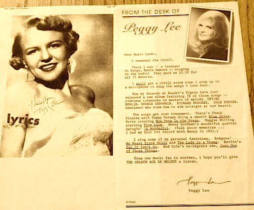 Peggy lee yule be swinging